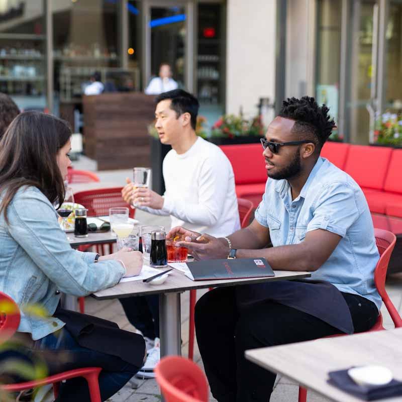 Restaurant outdoor patio